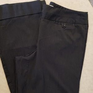 Like new Black and white pinstripe pants Maurices